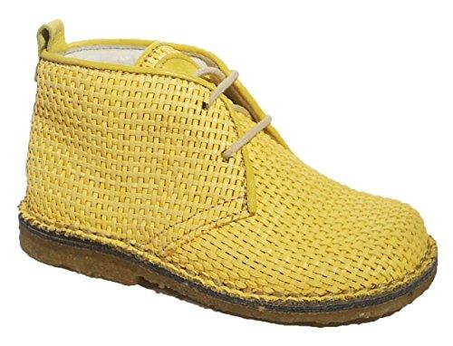 Momino Desert Boots Schnürschuhe Leder Kreppsohle gelb