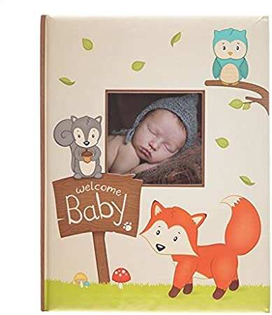 Fox Owl and Squirrel Woodland Friends Soft Baby Memory Book