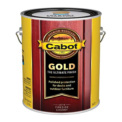(Cabot/Valspar 3472-07 Corp 3472-07 Gallon FireCherr 1 Gallon Fireside Cherry Wood Finish,)