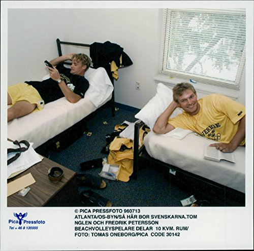 - Vintage photo of Beach volleyball players Tom Nglen and Fredrik Petersson in their split room of 10 sqm in the Olympic Village during the Atlanta Olympic Games in 1996