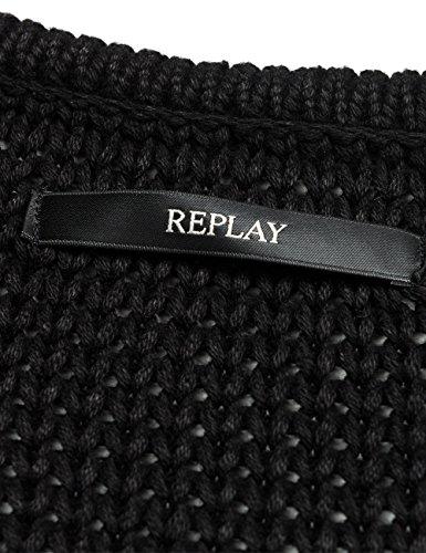 REPLAY, Suéter para Mujer Negro (Black)