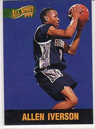 Allen Iverson Rookie Draft Pick Basketball Card 76ers