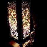 Ganesha India Hindu Purple Handmade Asian Oriental Wood Light Night Lamp Shade Table Desk Art Gift Home Vintage Bedroom Bedside Garden Living Room; Free Adapter; a Us 2 Pin Plug #519 by Apple-Heart