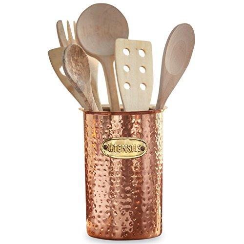Copper Kitchen Utensil Caddy, 7