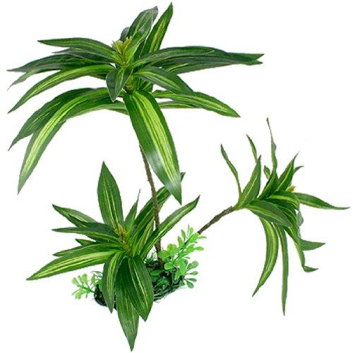 sourcingmap® Aquarium Aquascape Künstliches Blatt Wasser Gras Plastik Pflanze Dekoration Grün 30cm
