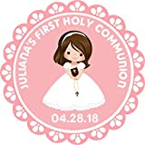 Girls First Holy Communion Favor Stickers, Communion Supplies, Communion Decorations, Communion Favor Stickers, You Choose Character