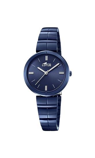 Lotus Watches Reloj Análogo clásico para Mujer de Cuarzo con Correa en Acero Inoxidable 18432/1: Lotus: Amazon.es: Relojes