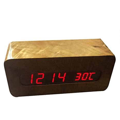 Reloj de Madera Multi-función del Control de Sonido, Reloj de Madera de Alto