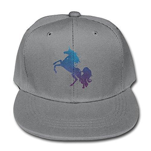 Price comparison product image HDRAY Kids Unicorn Horse Magic Unisex Plain Snapback Baseball Cap Adjustable One Size