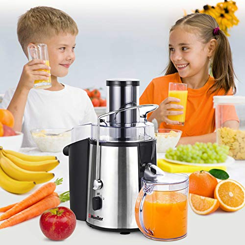 """MUELLER Juicer Ultra 1100W Power, Easy Clean Juice Extractor Press Centrifugal Juicer Machine, Wide 3"""" Feed Chute for Whole Fruit Vegetable, Anti-drip, High Quality for Fruits and Vegetables, BPA-Free by Mueller Austria (Image #3)"""