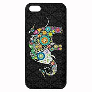 Colorful Retro Flower Elephant & Birds Printed Plastic Rubber Sillicone Customized iPhone 5 Case, iPhone 5S Case Cover, Protection Quique Cover, Perfect fit, Show your own personalized phone Case for iphone 5 & iphone 5S by ruishername