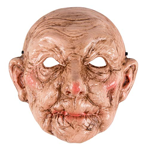Blue Panda Halloween Mask - Old Lady Mask Costume Accessory, Creepy Granny Look for Men Women Teens