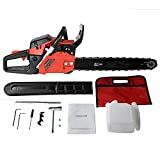 20 Inch Chainsaw 52cc/58cc Petrol Chain Saw, 3.4HP, 2-Stroke Gas Powered Chain Saw with Carring Bag, Tool Kit, Fuel Mixing Bottle, Manual (58cc-R) Review