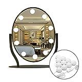 Led Vanity Mirror Lights,10 Dimmable LED Light Bulbs,16.5ft 7000K White Flexible Led Light Strip for Makeup Vanity Set in Dressing Room & Bathroom(Mirror Not Include)