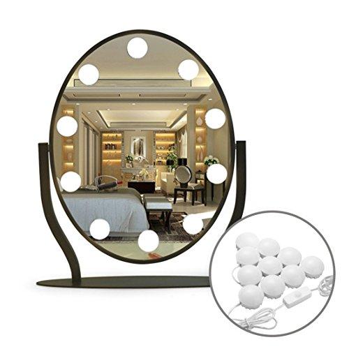 Led Vanity Mirror Lights,10 Dimmable LED Light Bulbs,16.5ft 7000K White Flexible Led Light Strip for Makeup Vanity Set in Dressing Room & Bathroom(Mirror Not Include) by Idefair