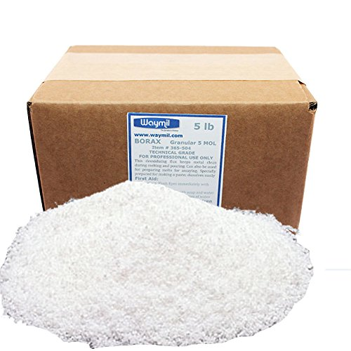 BORAX FLUX FOR MELTING GOLD GRANULAR GLAZE CRUCIBLE 5 Lb JEWELRY SILVER METALS Waymil