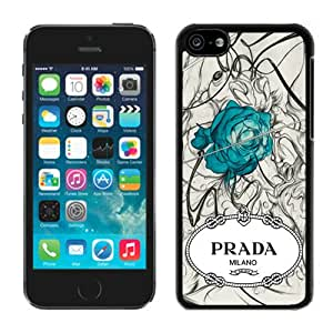 Fashionable And Durable Custom Designed Cover Case For iPhone 5C With Prada 47 Black Phone Case