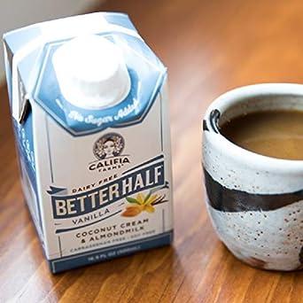 Califia Farms Vanilla Better Half Coffee Creamer, 16.9 Oz (Pack of 6)   Coconut Cream and Almondmilk   Half & Half   Dairy Free   Plant Based   Nut Milk   Vegan   Non-GMO