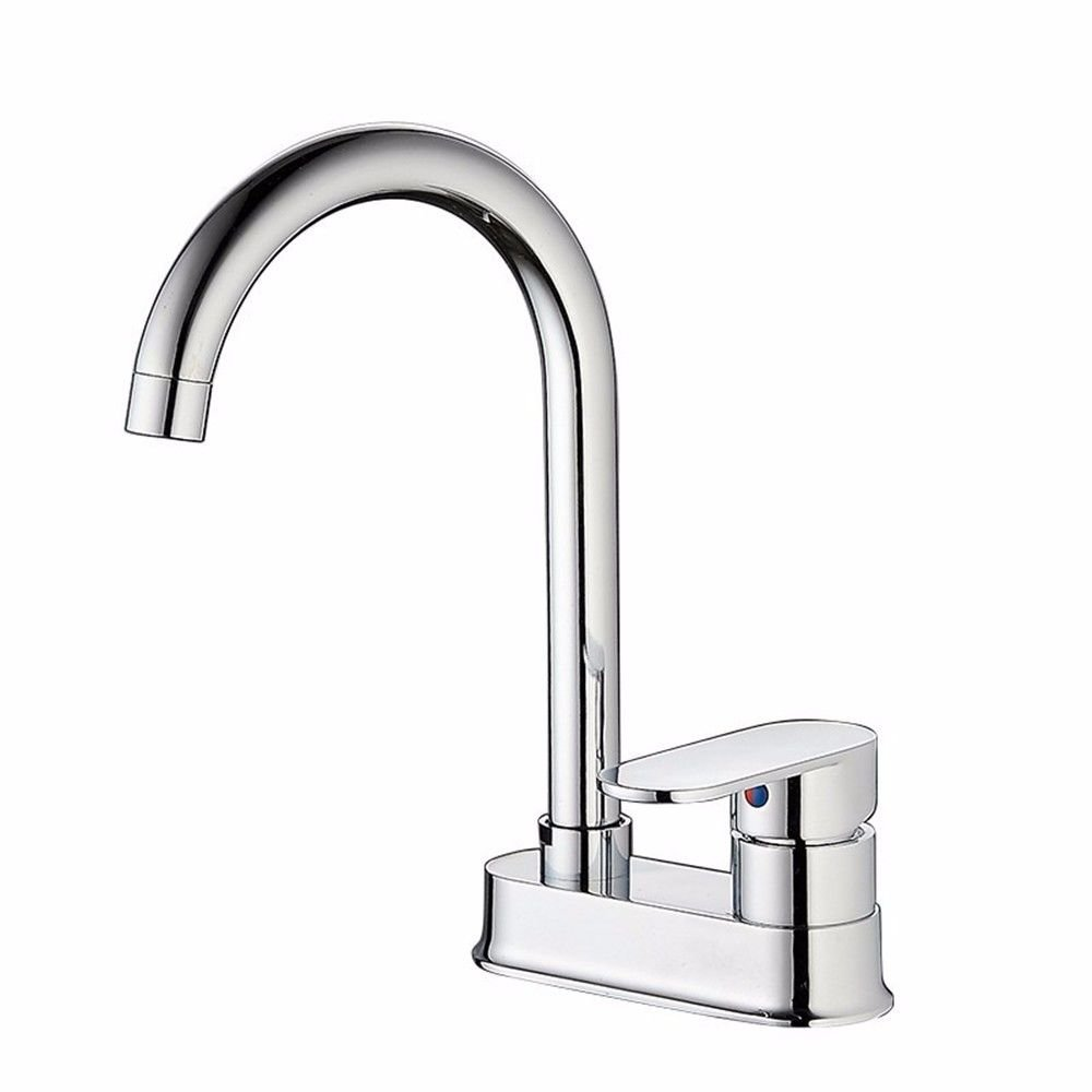SADASD Modern Copper Bathroom Basin Faucet Chrome Multi-Function Water Purification Kitchen Sink Taps Single Hole Single Handle Ceramic Valve Hot And Cold Water Mixer Tap With G1 2 Hose