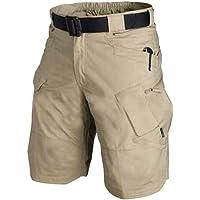 Nicknocks Pantalones Cortos de algodón para Hombre, Estilo Cargo Militar, para Exteriores, de Secado rápido, Pantalones Cortos Deportivos Casuales