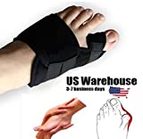 2PCS Big Toe Bunion Splint Straightener Corrector Foot Pain Relief Hallux Valgus [US Warehouse] by ShopIdea