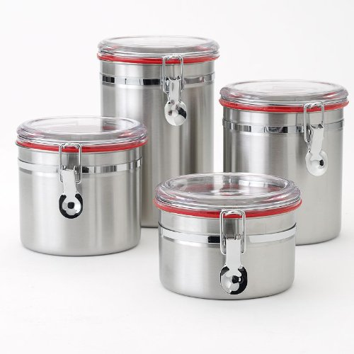 Food Network 4-pc. Stainless Steel Kitchen Canister Set