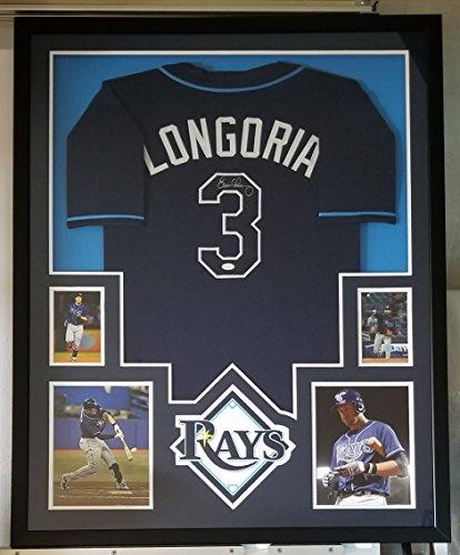 Evan Longoria Signed Autographed Framed Jersey Tampa Bay Rays Framed JSA