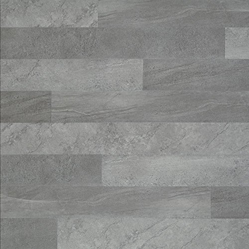 Hardware ALP404 Adura Glue Down Collection Meridian Luxury Vinyl Tile Flooring, Steel/ALP404