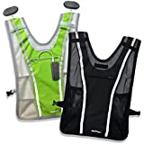All New Roadnoise Long Haul Vest Running and Cycling Vest with speakers. Safer running and riding with music.