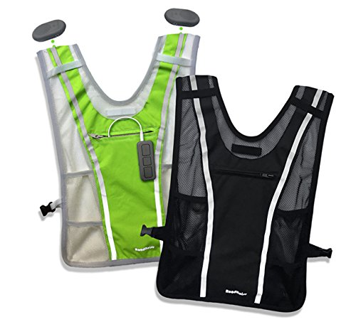 Roadnoise Long Haul Vest Running and Cycling Vest with speakers. Safer running and riding with music. (Hi Vis Green, X-Small/Small) by Roadnoise (Image #10)