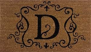 Monogram Coir Doormat Insert - D