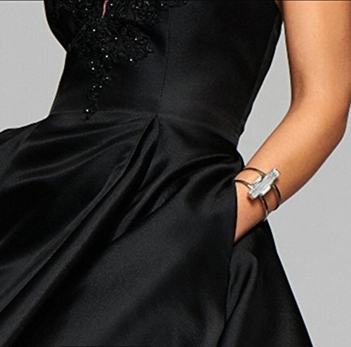 Sweetdress A line Satin Lace Applique Party Prom Dress Short Homecoming Dress