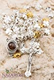 Metal Cross Shape Beads Rosary Gold Silver Color Jerusalem Necklace Jesus Cross Holy Land