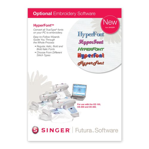 SINGER Futura HyperFont Software for CE-150 and CE-250 Singer Futura Sewing Embroidery Machine