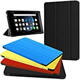 Fire HD 8 Case - Zerhunt Ultra Light Slim Fit Protective Cover with Auto Wake/Sleep For Fire HD 8 Tablet (2017/2016 Release,7th/6th Generation) Black