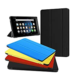 Fire HD 8 Case,Zerhunt Ultra Light Slim Fit Protective Cover with Auto Wake/Sleep For Fire HD 8 Tablet (7th Generation, 2017 Release) Black