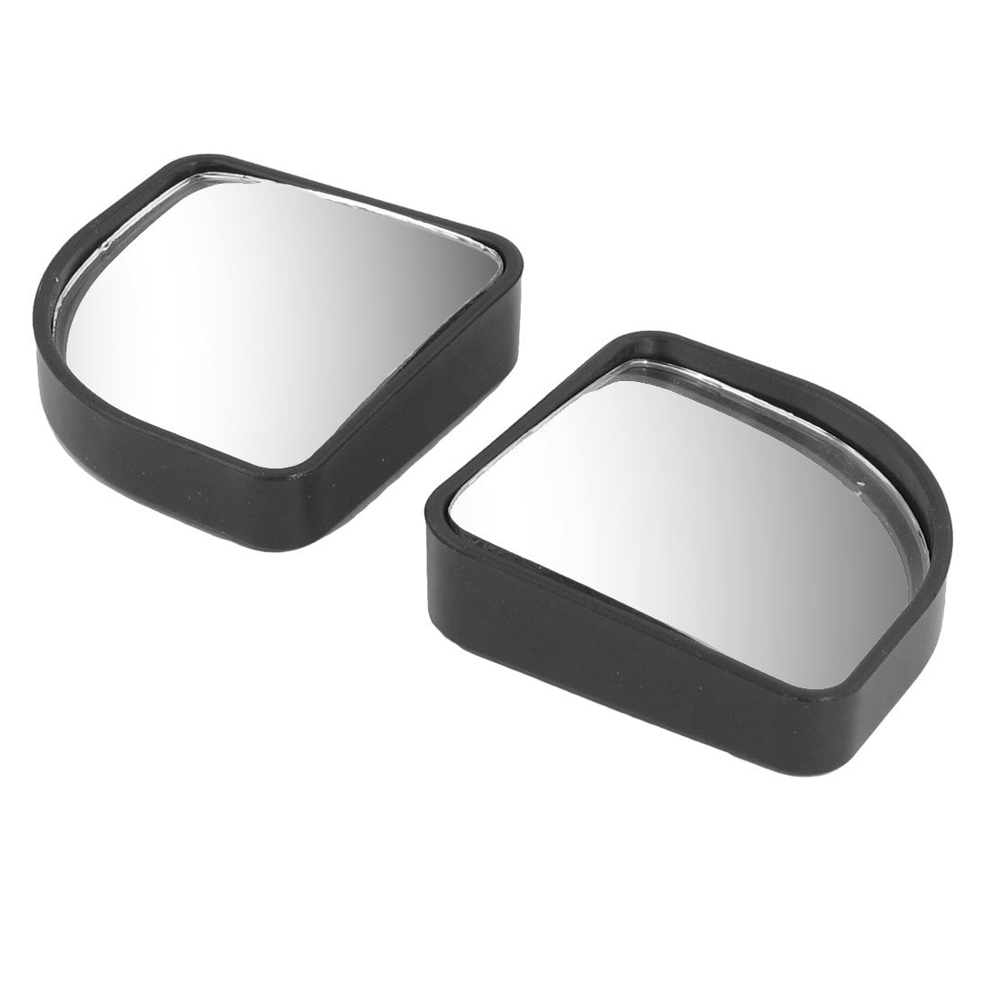 2 Pcs Car Black Wide Angle Fanshaped Rear View Blind Spot Mirror 2''