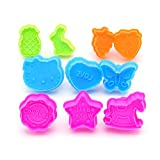 LetGoShop Cookie Cutters 10-Piece Cartoon Cookie Stamps Set Kitchen Baking Supplies Tools Kit Animal, Fruit, Star, Heart Shape Cookie Presses