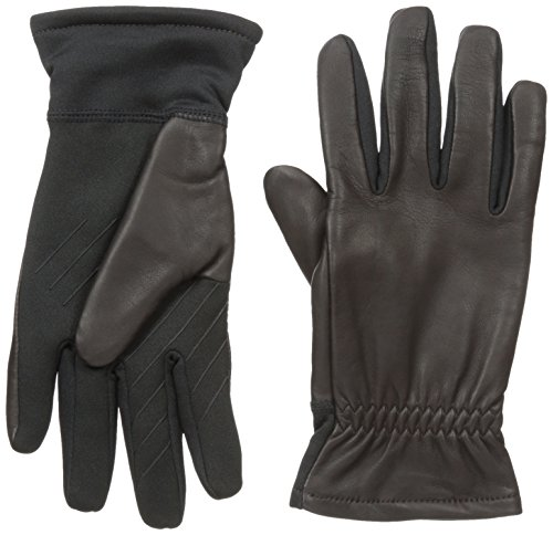 U|R Men's Hudson Wrist Touchscreen Glove, Brown, Large/X-Large
