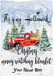 ALASBAG Personalized Name Hallmark Movies Blanket for Baby Boy Girl Kids and Adults. Hallmark Christmas Movies