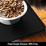 DogBuddy Dog Food Mat, Small (19x12), Large (24x16) or XXL (32X24), Non Slip Dog Food Tray, FDA Silicone Dog Placemat, Washable Pet Food Mat, Waterproof Pet Dog Feeding Mat, Dog Food Mats for Floors
