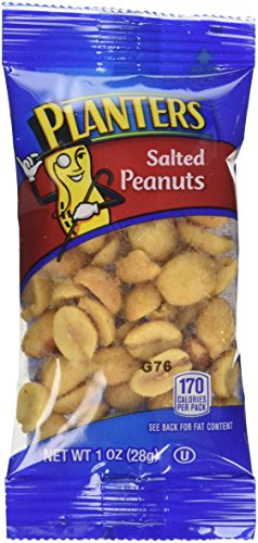 Planters Nuts on the Go Salted Peanuts, 1 oz single-serve bags, 48-Count