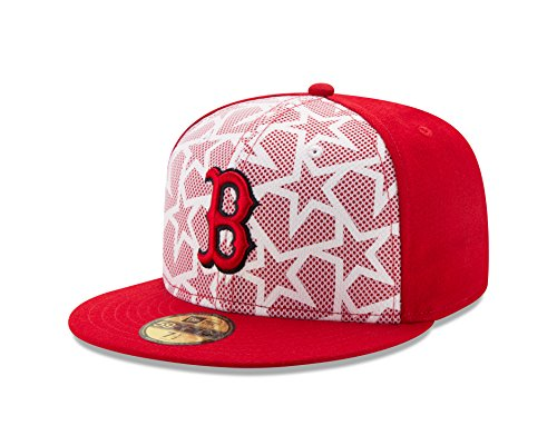 Sox Star (MLB Boston Red Sox Men's 2016 Stars & Stripes 59Fifty Fitted Cap, Size 7 3/4, Scarlet)