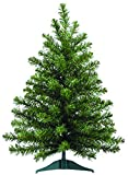 2 Foot High x 16 Inch Wide Artificial Christmas Balsam Pine Tree, 75 Tips On Base