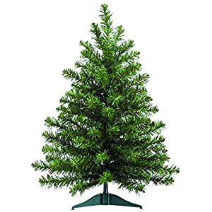 2 Foot High x 16 Inch Wide Artificial Christmas Balsam Pine Tree, 75 Tips On Base 11