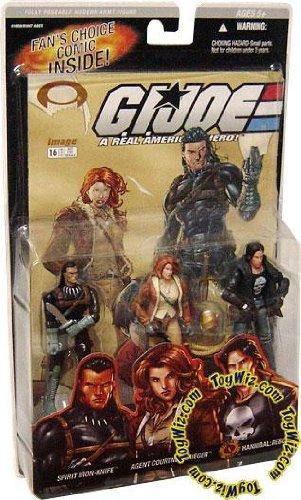Gi Joe 3 Pack #16 Comic Spirit Iron Knife , Agent Courtney Krieger , Hannibal: Reborn