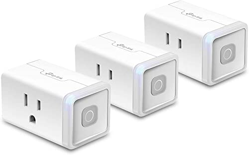 Kasa Smart Plug by TP-Link, Smart Home WiFi Outlet Works with Alexa, Echo, Google Home IFTTT, No Hub Required, Remote Control, 12 Amp, UL Certified, 3-Pack HS103P3