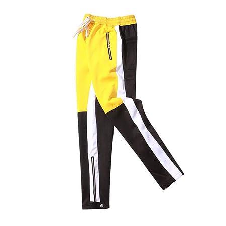 YONGJIU Pantalones de chándal para Hombres Pies con Cremallera ...