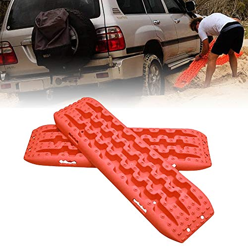 FIREBUG Recovery Track, Recovery Traction Mats for Off-Road Mud, Sand, Snow Vehicle Extraction (Set of 2), Orange (Best Tire Chains For 2wd Truck)