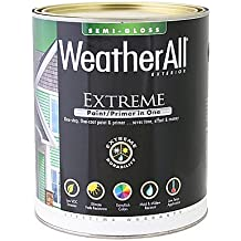 true value mfg company waesg9-qt WASES9, True Value, Premium Weatherall Extreme, Paint/Primer In One, QT, White, Semi-Gloss Paint
